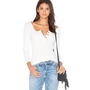 Free People Jill Henley Top Ivory Top Medium